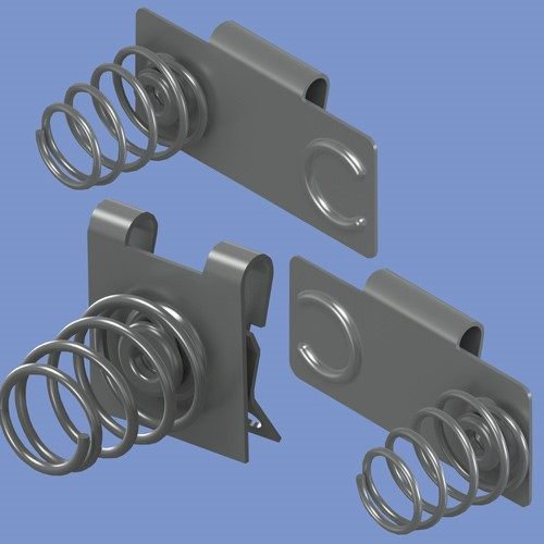 High Performance Coil Spring Battery Contacts
